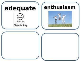 Kumak's Fish amazing  and vocabulary words cards