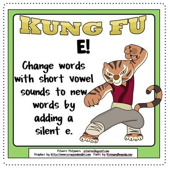 Kung Fu Ka-Pow-E! Silent E Activities