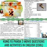 "Kung Fu Panda 3 (Movie) Questions Bonus English ""Descriptions"" Vocabulary Sheets"