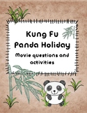 Kung Fu Panda Holiday movie questions, activities, etc.