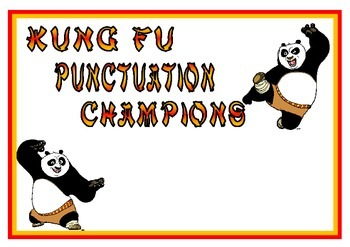 Kung Fu Punctuation CHAMPS - 100 likes Freebie!!