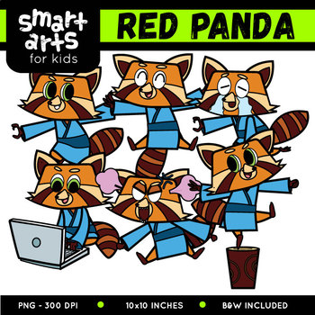 Fighting Red Panda Digital Clip art