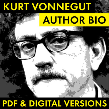 Kurt Vonnegut Author Study Worksheet, Easy Biography Activity, CCSS