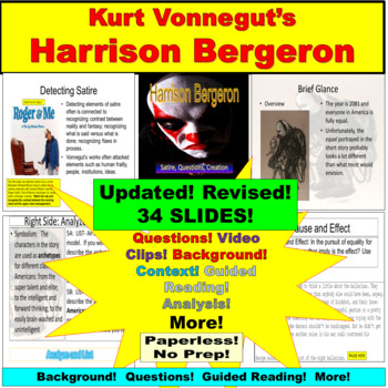 satire in vonneguts harrison bergeron