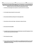 Kurt Vonnegut Short Story Worksheet