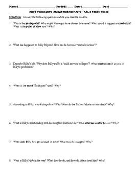 Kurt Vonnegut's Slaughterhouse Five Study Guide Packet