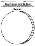 Kuwait $1 Coin Worksheet W/Currency Word Search