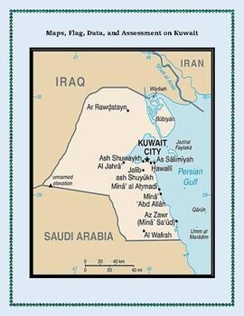 Kuwait Geography Maps, Flag, Data, Assessment - Map Skills Data Analysis