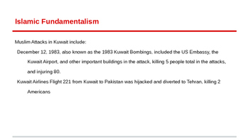 Kuwait and Islam and US Relations