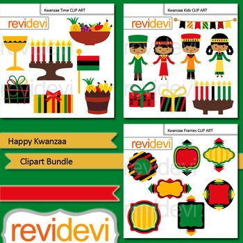 Kwannzaa: Happy Kwanzaa clip art bundle (3 packs)
