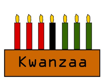 Kwanzaa:  Color words, Following Directions, Subitize Sets of Colored Candles.