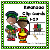 December Activities Kwanzaa Counting Clip Cards