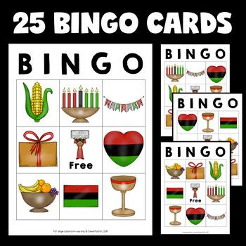 Holidays Around the World Activities (Kwanzaa Bingo)
