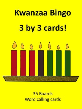Kwanzaa 3 by 3 BINGO!