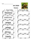 Kwanzaa ABC order