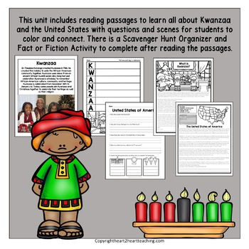 All About Kwanzaa Activities and Flip Book