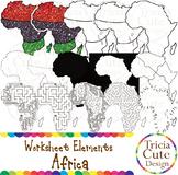 Black History Month Clip Art Kwanzaa Africa Worksheet Elements