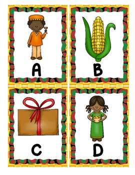 Kwanzaa Alphabet Scavenger Hunt: Upper and Lowercase Letters