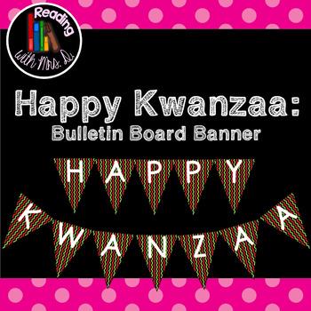 Kwanzaa Banner Pennant Bunting for Bulletin Board