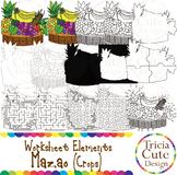 Kwanzaa Clip Art Mazao Crops Worksheet Elements for Tracing Cutting Maze