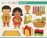 Kwanzaa Clip Art - color and outlines