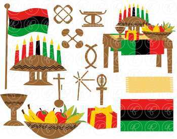 Kwanzaa Clipart Set by Poppydreamz