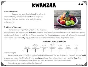 Kwanzaa Close Reading Packet