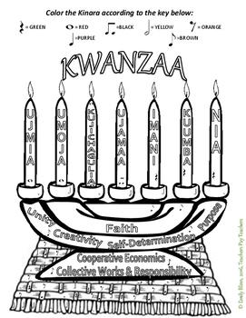 Kwanzaa Color by Note Grades 2-6