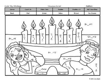 Kwanzaa Coloring Page by Math Skill - Subitizing, Addition ...
