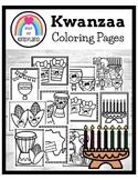 Kwanzaa Coloring Pages Booklet: Kinara, Unity Cup, Bendera