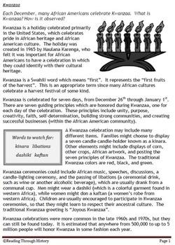 Kwanzaa (Common Core)