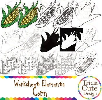 Kwanzaa Corn Muhindi Worksheet Elements Clip Art for Traci