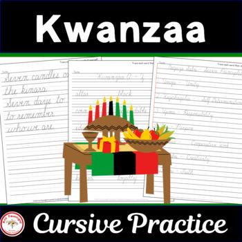 Kwanzaa Cursive Practice