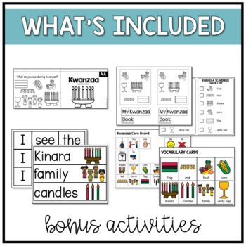 Kwanzaa Easy Reader Adapted Books and Activities