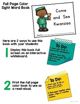 Kwanzaa Emergent Reader and Activities