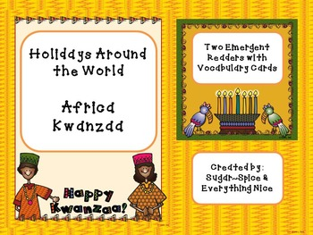 Kwanzaa Emergent Reader and Vocabulary Cards Holiday Aroun
