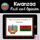 Kwanzaa Fact and Opinion Boom Cards