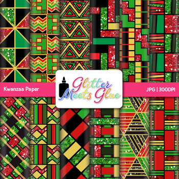 Kwanzaa Paper | Scrapbook Backgrounds for Worksheets and Resources