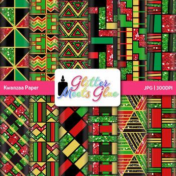 Kwanzaa Scrapbook Paper: Black History Month Graphics {Glitter Meets Glue}