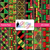 Kwanzaa Paper {Scrapbook Backgrounds for Worksheets and Re