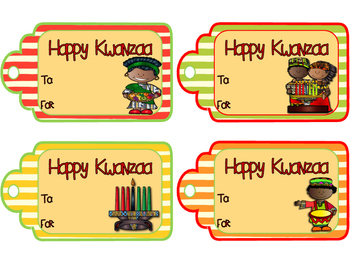 Kwanzaa Gift Tags
