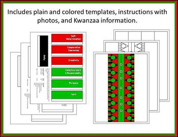 Kwanzaa Kinara Activity - A 3D Winter Holiday Craft