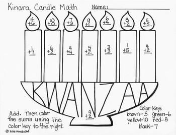 Kwanzaa Kinara Candle Math By Noodlzart Teachers Pay