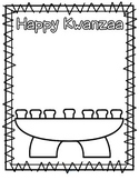 Kwanzaa Kinara Cut and Paste  - FREE