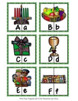 Kwanzaa Letter Match Puzzles