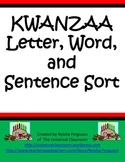 Kwanzaa Letter, Word, and Sentence Sort