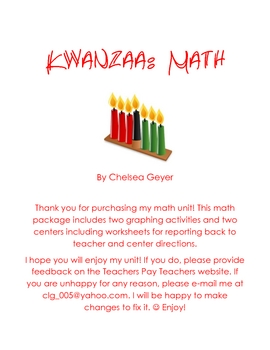 Kwanzaa Math Kindergarten Unit