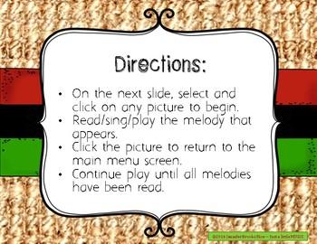 Kwanzaa Melodies - Interactive Reading Practice Game {pentatonic}