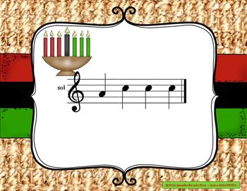 Kwanzaa Melodies - Interactive Reading Practice Game {sol mi}