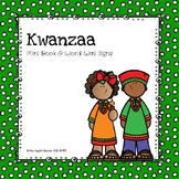 Kwanzaa Mini Book & Word Wall Signs